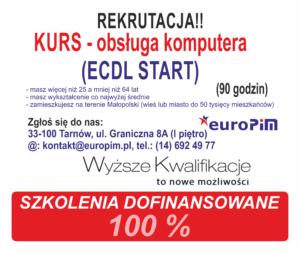 Szkolenie z obsługi komputera w Tarnowie! Nie zwlekaj rekrutacja trwa a liczba miejsc ograniczona!!! – zostały 2 miejsca!!
