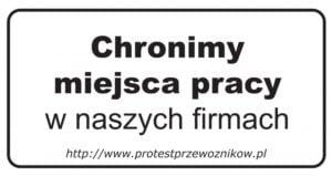 Protest POLSKICH PRZEWOŹNIKÓW – 23.03.2015
