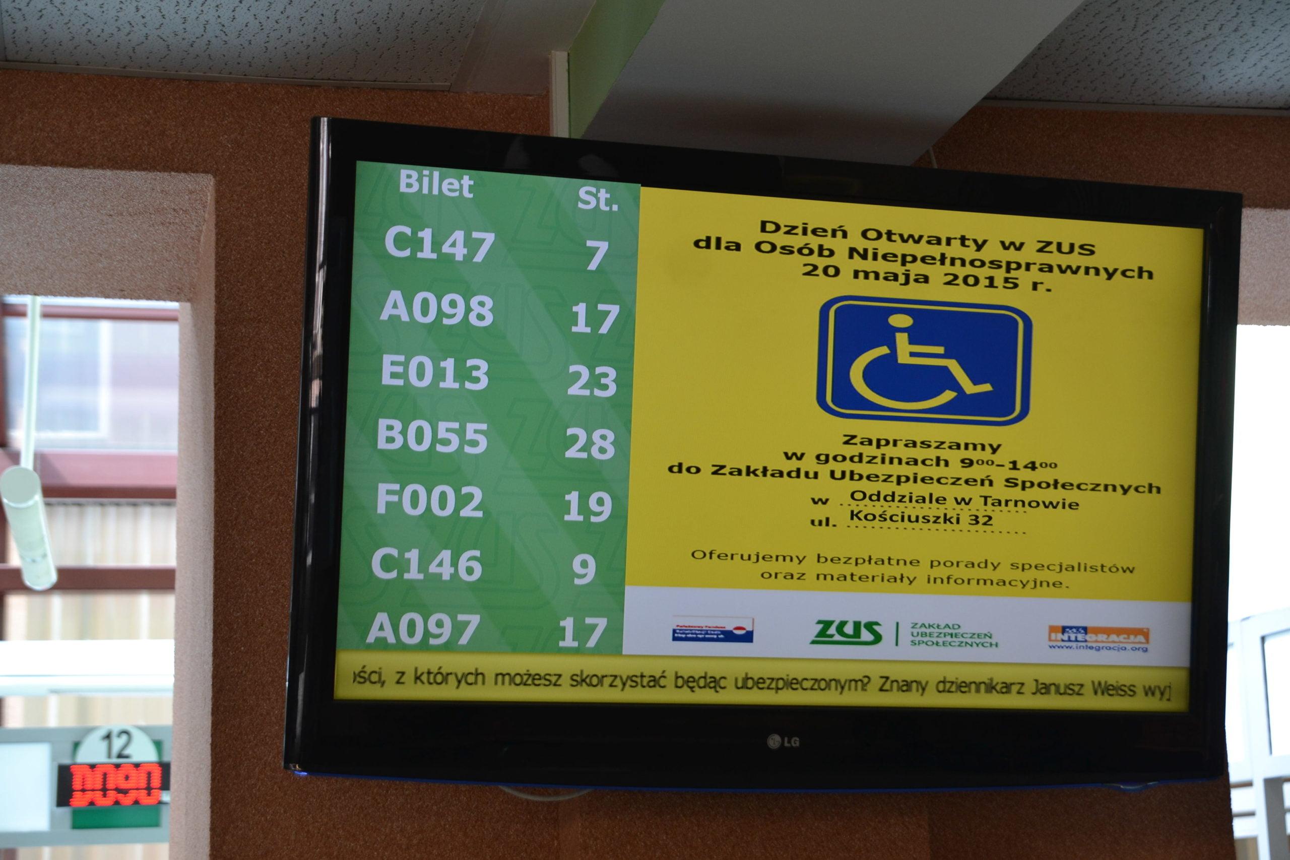 Dzień Otwarty w ZUS dla Osób Niepełnosprawnych