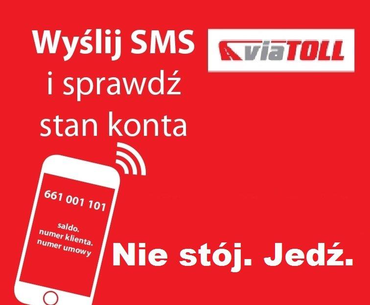 Sprawdź SMS-em stan konta przedpłaconego viaTOLL