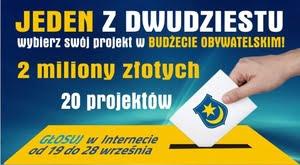 Głosowanie na projekty od 19 września.