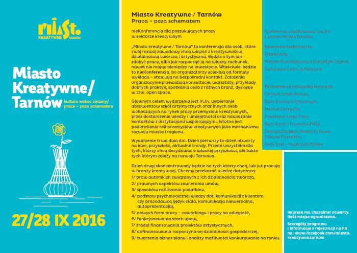 Miasto Kreatywne/Tarnów – konferencja
