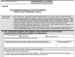 VAT-R – jak wypełnić zgłoszenie rejestracyjne w VAT