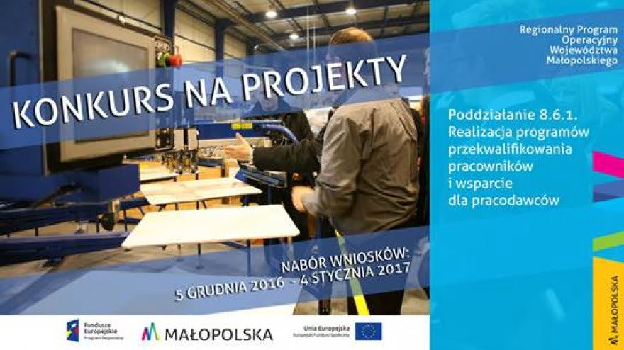 Konkurs na projekty dotyczące przekwalifikowania pracowników