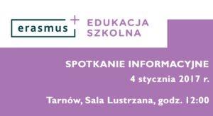 Przyjdź na bezpłatne spotkanie Erasmus +