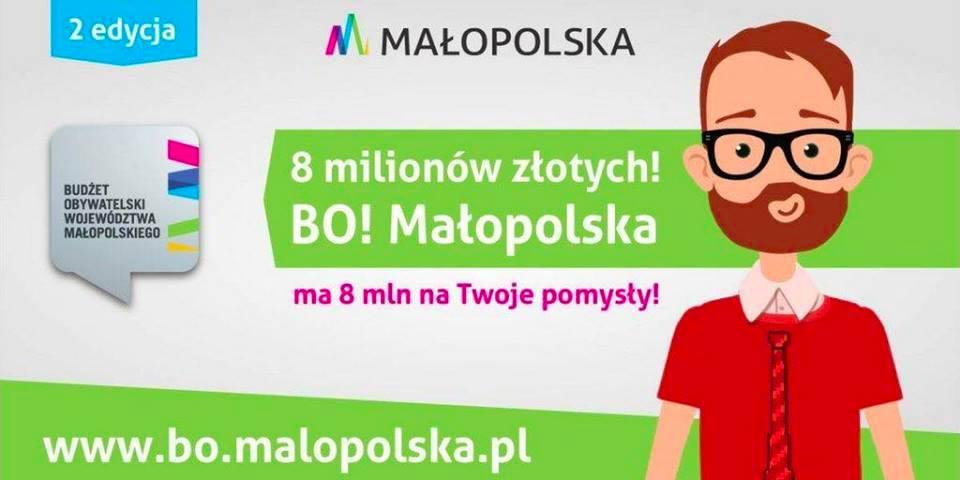 II edycja Budżetu Obywatelskiego Województwa Małopolskiego wyruszyła!