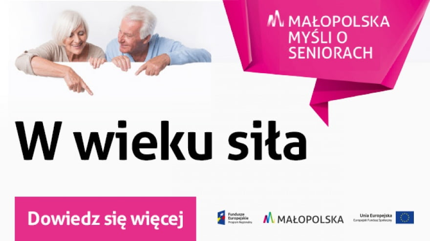 Fundusze europejskie wspierają małopolskich seniorów