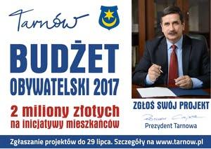 Budżet Obywatelski Tarnowa-wstępna liczba zgłoszeń
