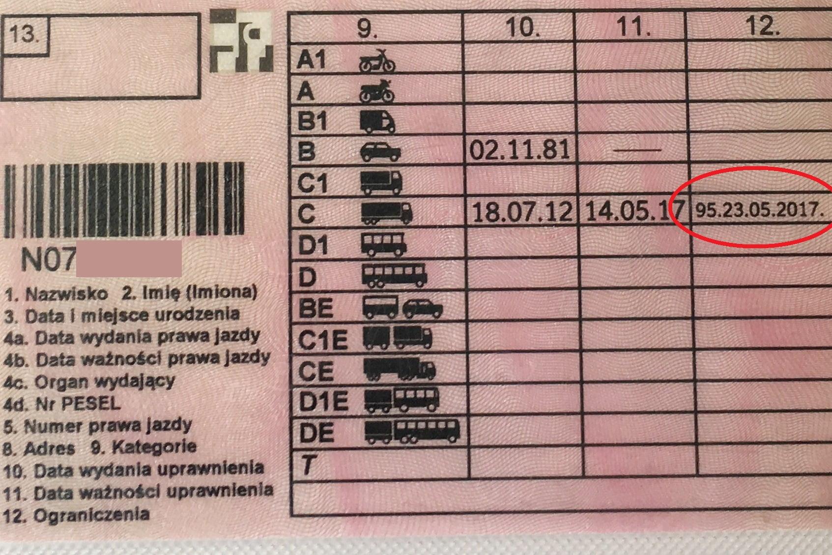 KOD 95, Co oznacza i do czego uprawnia nas KOD 95 w prawo jazdy.