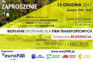 BEZPŁATNE spotkanie dla firm transportowych