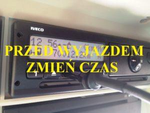 Zmień czas w TACHOGRAFIE – KARA od 100 – 1000 zł.