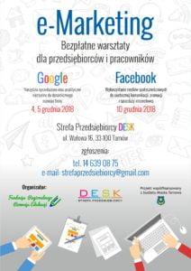 E-marketing – BEZPŁATNE warsztaty dla przedsiębiorców w Tarnowie!