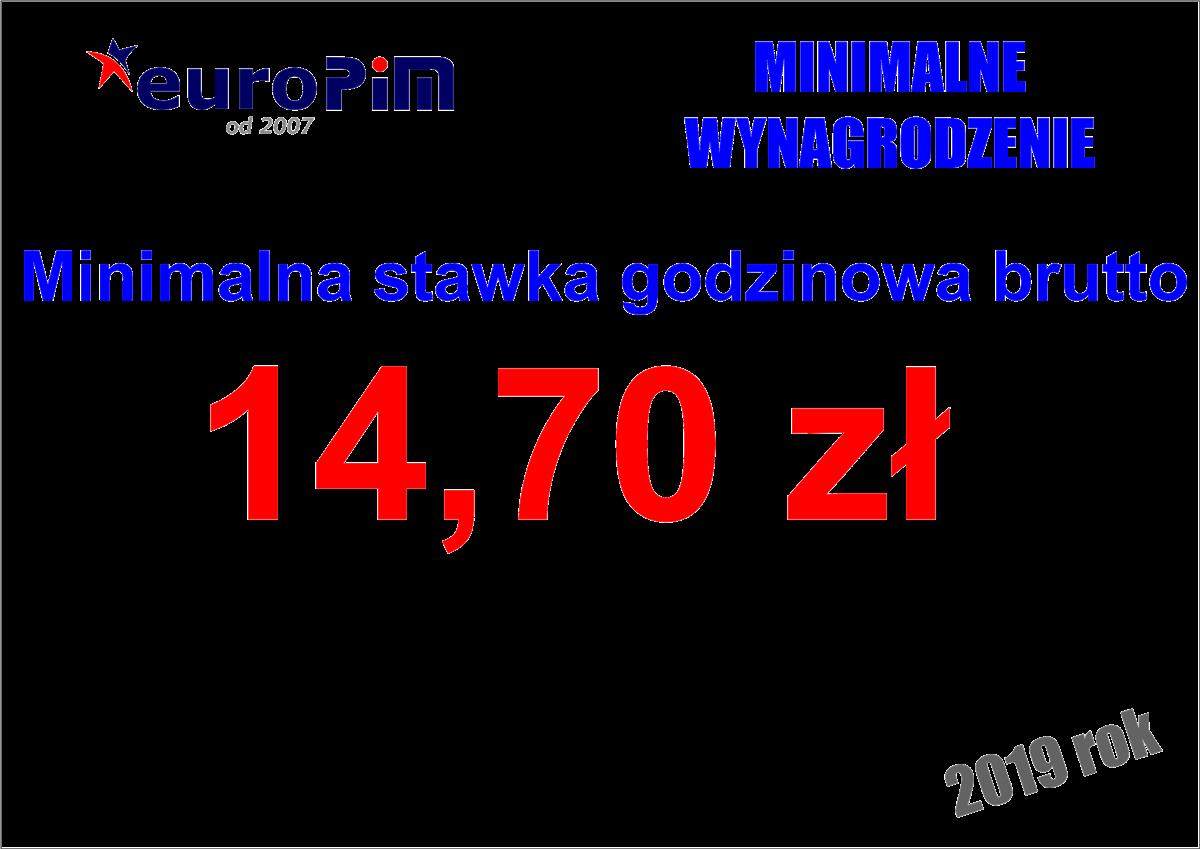 Stawka godzinowa minimalna na zleceniu (umowa zlecenie) w 2019 r.