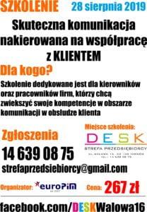 """Szkolenie """"Skuteczna komunikacja nakierowana na współpracę z klientem"""" – Tarnów"""