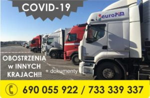 [COVID-19 EUROPA]Ograniczenia i wymagane dokumenty w Europie dla TRANSPORTU (aktualizacja 6.12.2020)