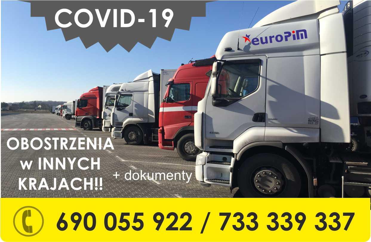 [COVID-19 EUROPA]Ograniczenia i wymagane dokumenty w Europie dla TRANSPORTU (aktualizacja 30.03.2021)