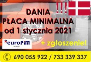 Płaca minimalna w Danii od 1 stycznia 2021 roku
