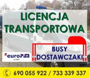 Licencja Transportowa i tachograf powyżej 2,5 tony, dla BUSów