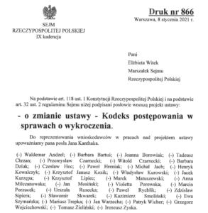 Mandat -projekt ustawy – MÓWIMY NIE!