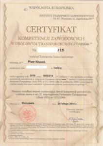 Licencja Transportowa Krajowa Międzynarodowa
