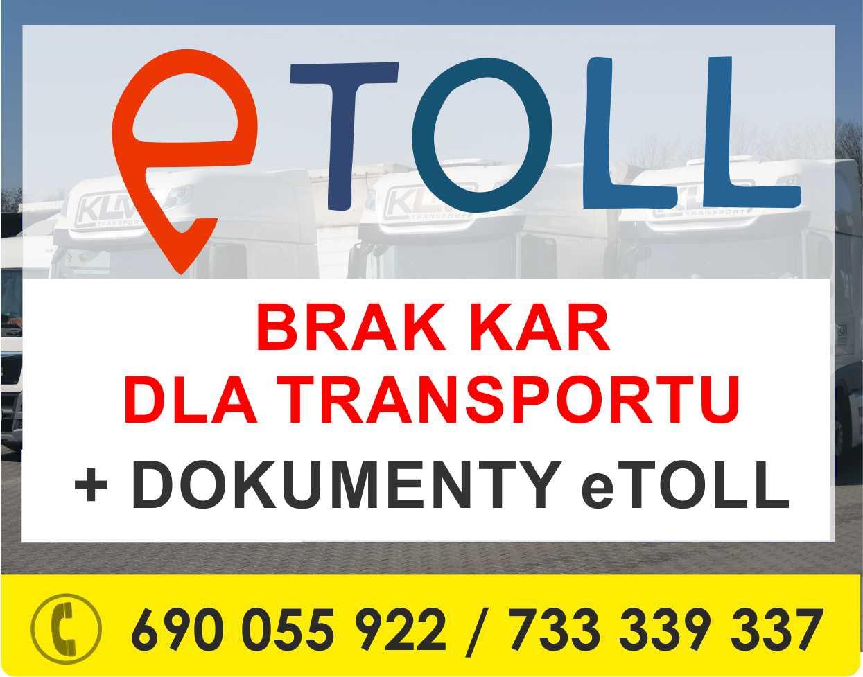 etoll – dobra wiadomość dla TRANSPORTU + dokumenty